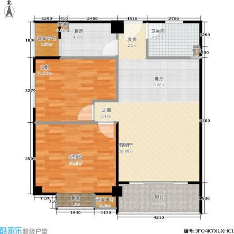香港公馆1室1厅1卫1厨99.00㎡户型图