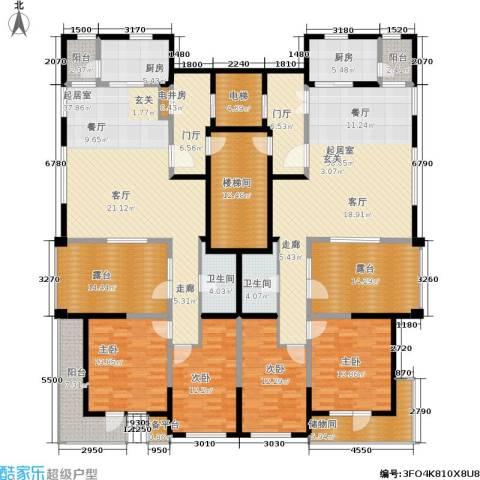 格林春晓4室0厅2卫2厨322.00㎡户型图