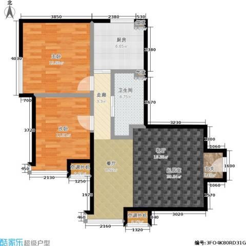 苏豪爱居2室0厅1卫1厨75.00㎡户型图
