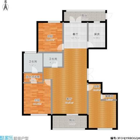 城泰湖韵天成3室1厅2卫1厨169.00㎡户型图