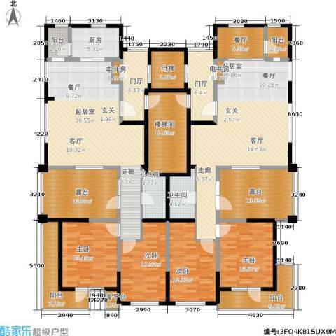 格林春晓4室1厅2卫1厨311.00㎡户型图