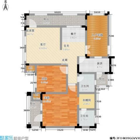 山语间二期 山语间・爱尚2室0厅2卫1厨119.00㎡户型图