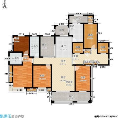 石湖华城三期 华城豪庭4室0厅2卫1厨187.00㎡户型图