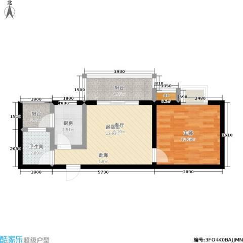 森岭居1室0厅1卫1厨42.00㎡户型图