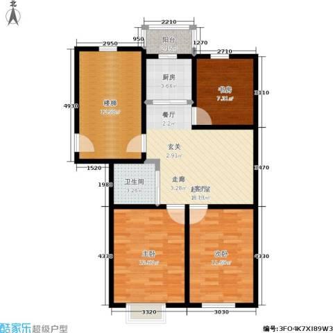 阳光A版3室0厅1卫1厨87.00㎡户型图