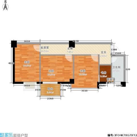 都会994室0厅1卫0厨71.00㎡户型图