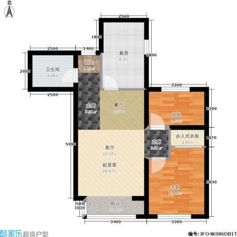 纳帕阳光2室0厅1卫1厨84.00㎡户型图