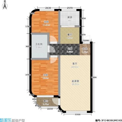 林韵春天2室0厅1卫1厨72.60㎡户型图