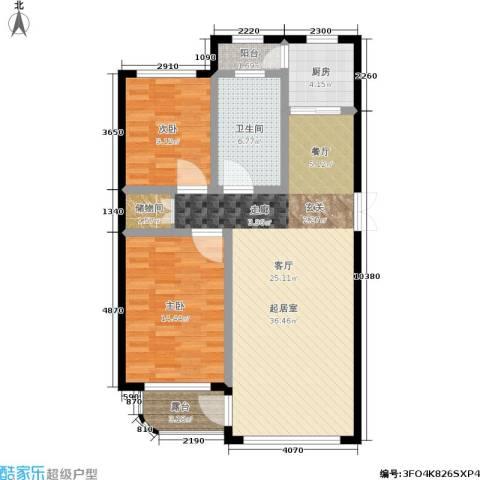 林韵春天2室0厅1卫1厨77.38㎡户型图