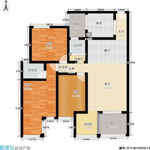 尚特区3室0厅2卫1厨151.00㎡户型图