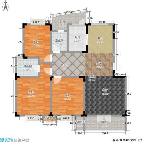青麓雅园3室0厅2卫1厨152.00㎡户型图