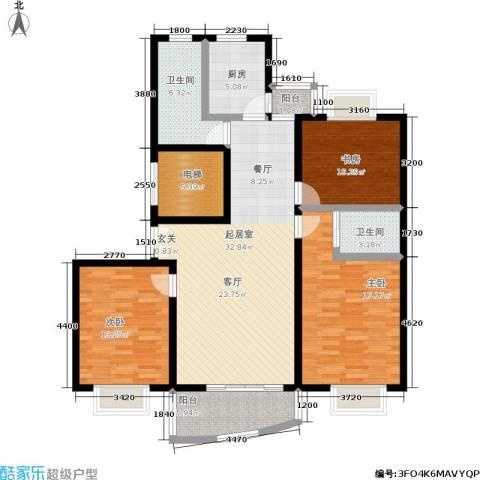 宝业馨康苑二期3室0厅2卫1厨116.00㎡户型图