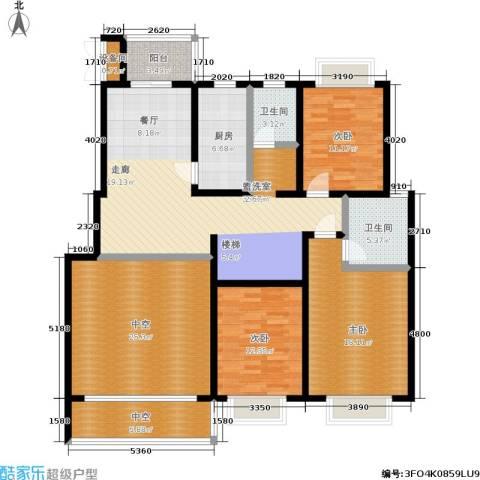 汇中沁园3室1厅2卫1厨185.00㎡户型图