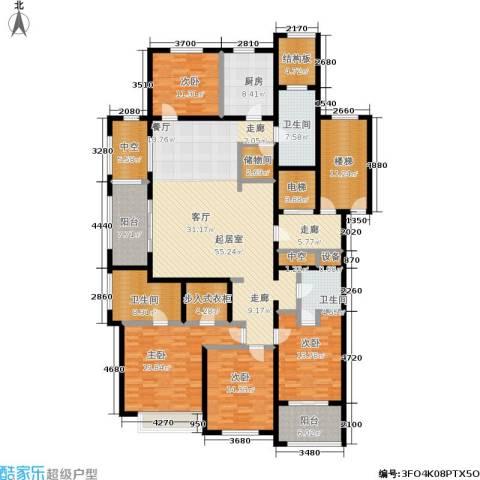 西溪蝶园二期 万科西溪蝶园4室0厅3卫1厨198.00㎡户型图