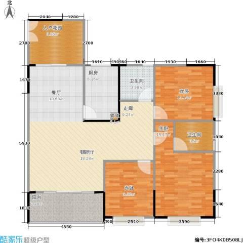 银海北极星3室1厅2卫1厨103.72㎡户型图