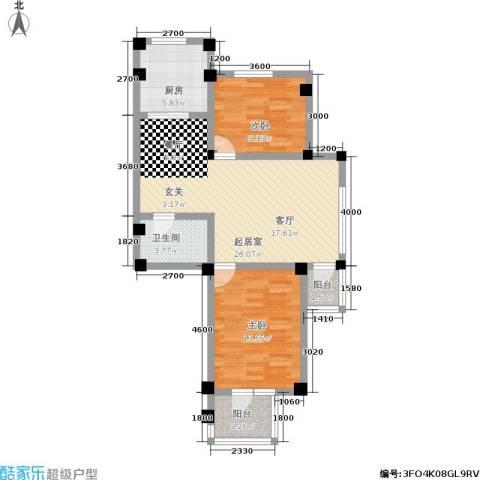 金润花园二期2室0厅1卫1厨93.00㎡户型图