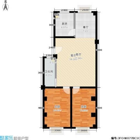 仁寿雅居2室1厅1卫1厨100.00㎡户型图