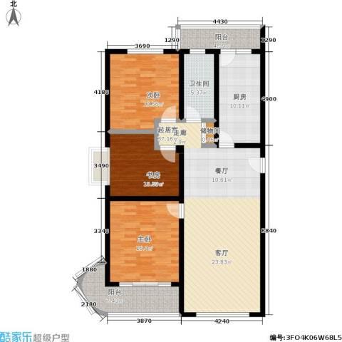 浦洲花园3室0厅1卫1厨120.00㎡户型图