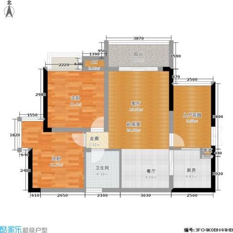 岭秀枫景2室0厅1卫1厨70.94㎡户型图
