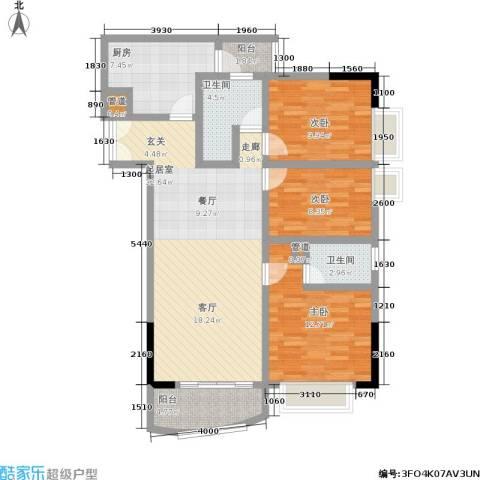 中惠俪城3室0厅2卫1厨112.00㎡户型图