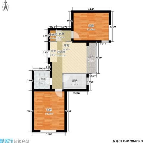 城建梦翔之家2室0厅1卫1厨79.00㎡户型图