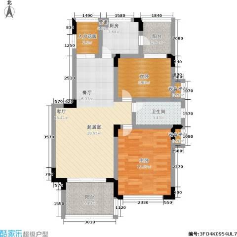 龙港红树林2室0厅1卫1厨69.00㎡户型图