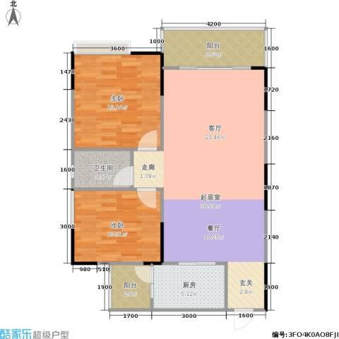 港韵新苑2室0厅1卫1厨103.00㎡户型图