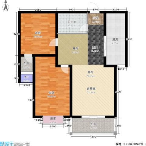 军城・港湾2室0厅1卫1厨106.00㎡户型图