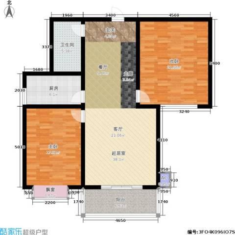 军城・港湾2室0厅1卫1厨108.00㎡户型图