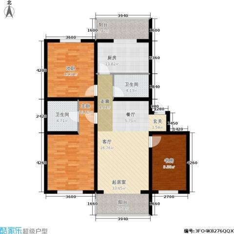 城建梦翔之家3室0厅2卫1厨135.00㎡户型图