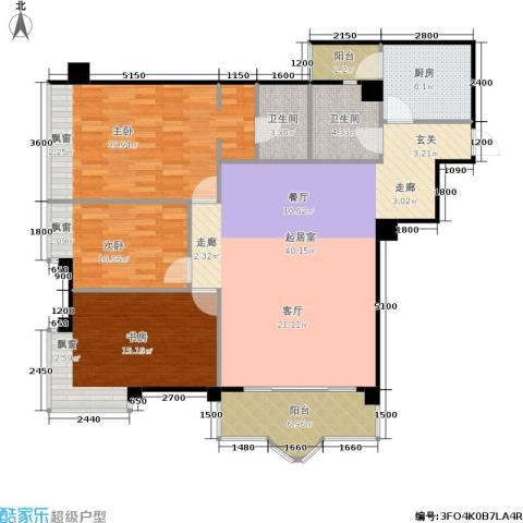 平常人家3室0厅2卫1厨116.68㎡户型图