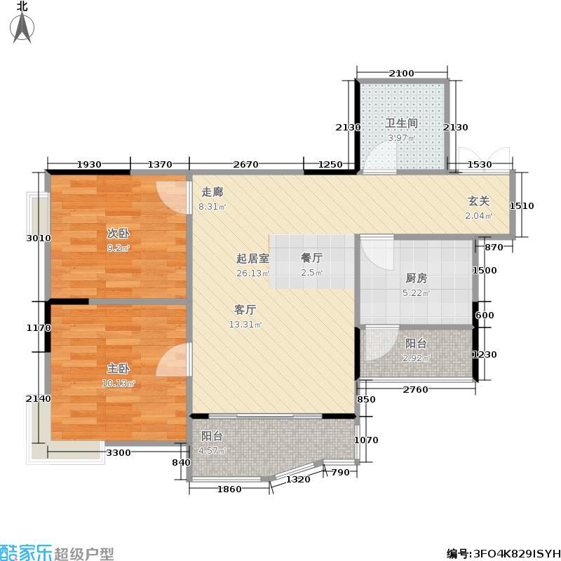 龙头景苑62.00㎡房型户型