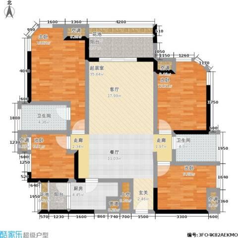 勤诚达22世纪项目 勤诚达和园 勤诚达宝安项目4室0厅2卫1厨123.00㎡户型图