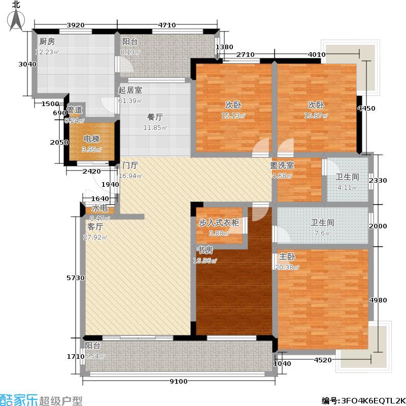 华商名邸209.30㎡房型: 四房; 面积段: 209.3 -209.3 平方米; 户型