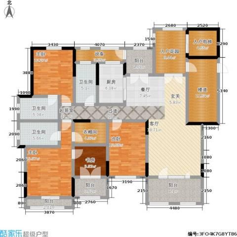 中建悦海和园4室0厅3卫1厨188.83㎡户型图