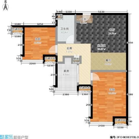 苏豪爱居2室0厅1卫1厨74.00㎡户型图