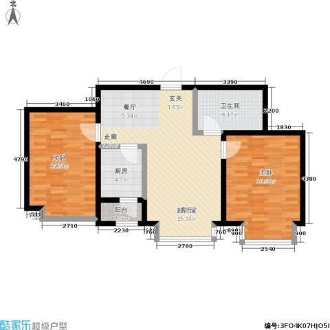 幻景家园2室0厅1卫1厨104.00㎡户型图