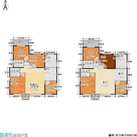 禹洲大学城6室2厅4卫2厨290.00㎡户型图
