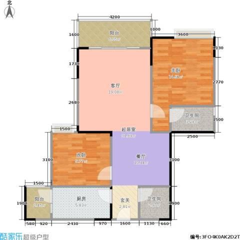 港韵新苑2室0厅2卫1厨104.00㎡户型图