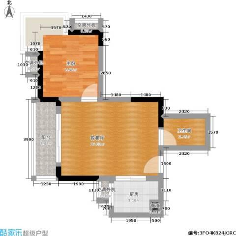 大川国际1室1厅1卫1厨36.85㎡户型图