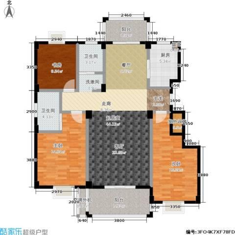 万景梅庭3室0厅2卫1厨156.00㎡户型图