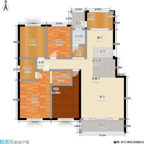 汇中沁园4室1厅2卫1厨200.00㎡户型图