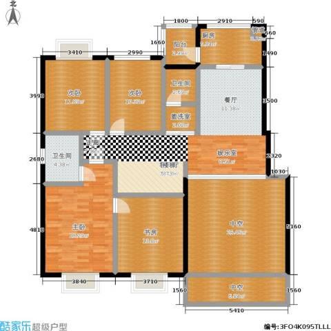 汇中沁园4室1厅2卫1厨198.00㎡户型图