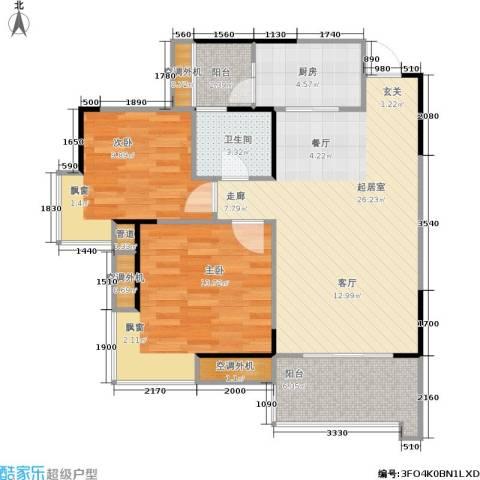 南源居2室0厅1卫1厨69.32㎡户型图