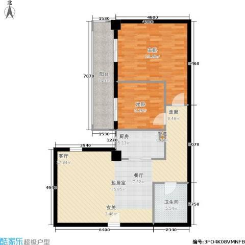 御览长安2室0厅1卫1厨95.00㎡户型图