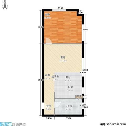 御览长安1室0厅1卫0厨67.00㎡户型图