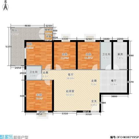 曲江雁唐府邸4室0厅2卫1厨150.00㎡户型图