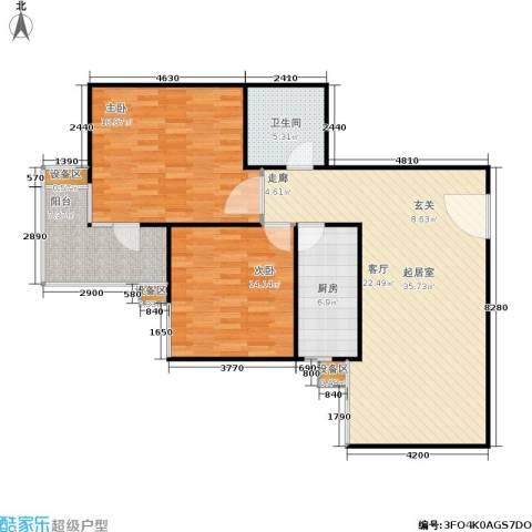 泰和嘉苑2室0厅1卫1厨95.00㎡户型图