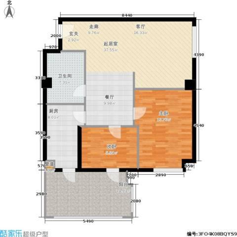 御览长安2室0厅1卫1厨105.00㎡户型图