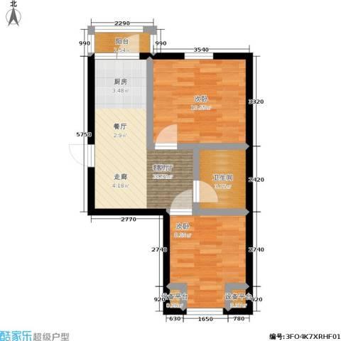 美晨家园2室1厅1卫0厨59.00㎡户型图